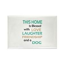 Love Laughter Friendship Dog Rectangle Magnet