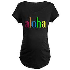 aloha: colorful Maternity T-Shirt