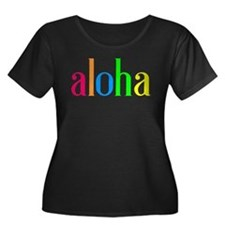 aloha: colorful Plus Size T-Shirt