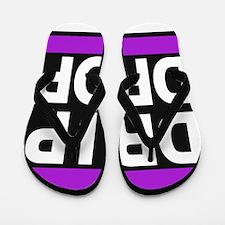 drip drop 1purple Flip Flops