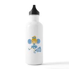 Cheerleader in Blue Water Bottle