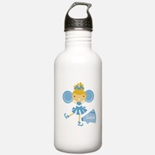 Cheerleader in Blue Water Bottle