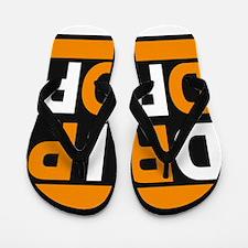 drip drop 2 orange Flip Flops
