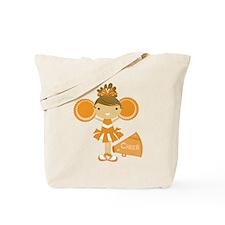 Cheerleader in Orange Tote Bag