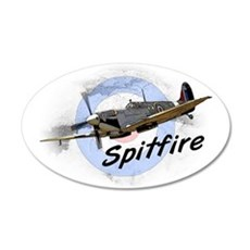 Spitfire 20x12 Oval Wall Decal