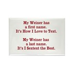 My Weiner has a first name. Rectangle Magnet (10 p