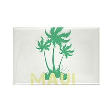 Palm Tree Maui Rectangle Magnet