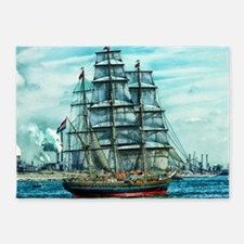Sailing Ship 5'x7'Area Rug
