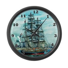 Sailing Ship Large Wall Clock