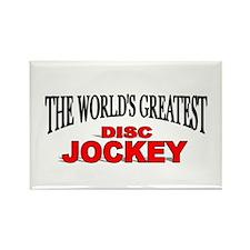 """The World's Greatest Disc Jockey"" Rectangle Magne"