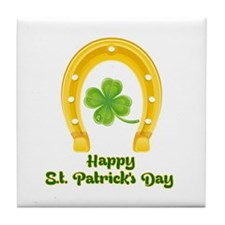 Happy St. Patrick's Day Tile Coaster