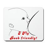 I fly Boob Friendly! Breastfeeding advocacy Mousep
