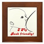 I fly Boob Friendly! Breastfeeding advocacy Framed