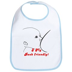 I fly Boob Friendly! Breastfeeding advocacy Bib