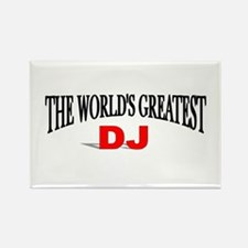 """The World's Greatest DJ"" Rectangle Magnet"
