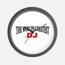 """The World's Greatest DJ"" Wall Clock"