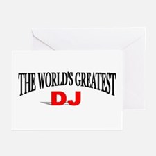 """""""The World's Greatest DJ"""" Greeting Cards (Package"""