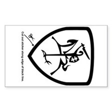 B/W Vytis Car Sticker (Shield)