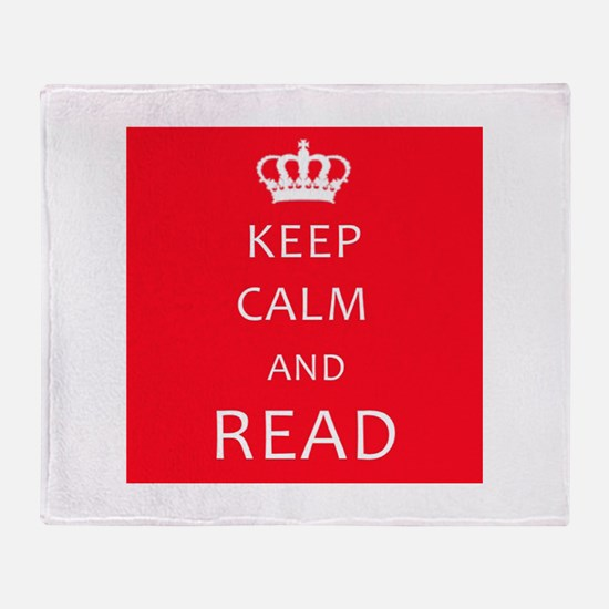 Keep Calm and READ Throw Blanket
