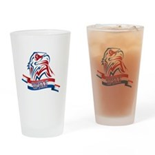 4th Of July Eagle Drinking Glass