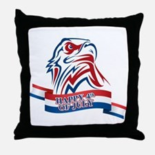 4th Of July Eagle Throw Pillow