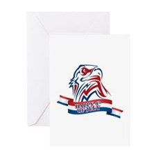 4th Of July Eagle Greeting Card