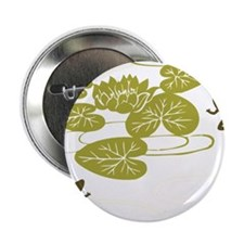 """Frogs with Lily pads 2.25"""" Button"""