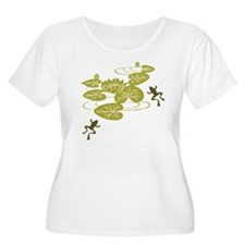 Frogs with Lily pads Plus Size T-Shirt