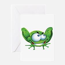 Evil Frog Greeting Card