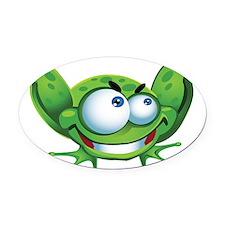 Evil Frog Oval Car Magnet