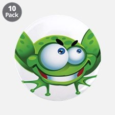 "Evil Frog 3.5"" Button (10 pack)"