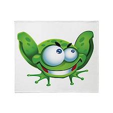 Evil Frog Throw Blanket