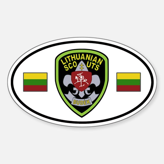 Lithuanian Scouts Sticker (Oval)