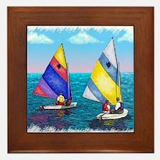 Sunfish Sailboat Framed Tile