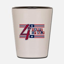 Happy 4th Of July Shot Glass