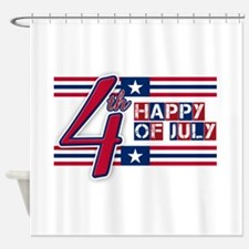 Happy 4th Of July Shower Curtain