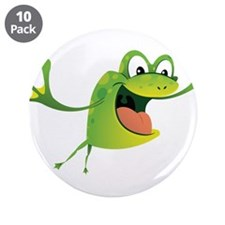 """Jumping Frog 3.5"""" Button (10 pack)"""