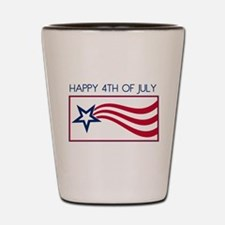 Happy 4th July Star Shot Glass
