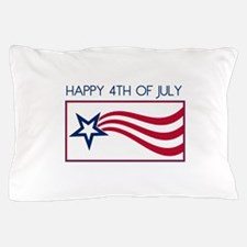 Happy 4th July Star Pillow Case