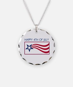 Happy 4th July Star Necklace