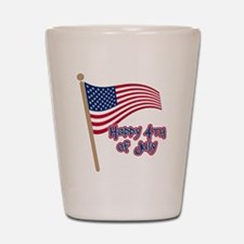 Happy 4th Flag Shot Glass