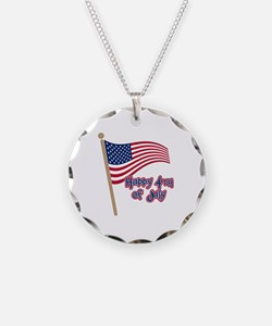 Happy 4th Flag Necklace