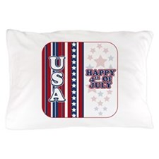 U.S.A. Happy 4th of July Pillow Case
