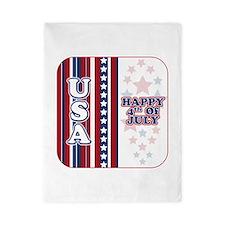 U.S.A. Happy 4th of July Twin Duvet