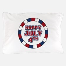 July 4th Round Pillow Case