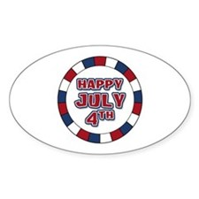 July 4th Round Decal