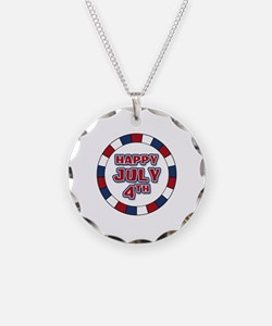July 4th Round Necklace