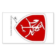 Red Vytis Car Sticker (Shield)