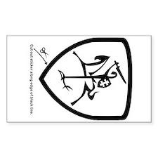 B/W Vytis Car Sticker (Shield)