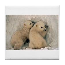 Polar Bear Cubby Tile Coaster